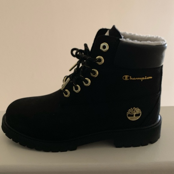 official sale thoughts on hot-selling discount Black and Gold Timberland x Champion boots
